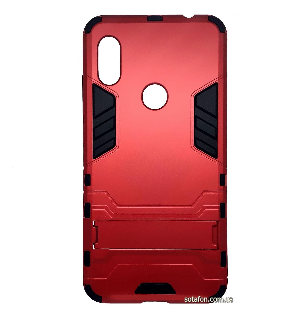 Бронированный противоударный чехол Stand для Xiaomi Redmi Note 6 Pro Dante Red