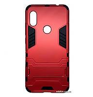 Бронированный противоударный чехол Stand для Xiaomi Redmi Note 6 Pro Dante Red, фото 1
