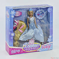 Кукла Anlily 99106 (12) верхом на лошади, в коробке