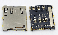 Разьем сим карты (на плате) Sony E2303 Xperia M4 Aqua LTE, E2306, E2312, E2333, E2353, E2363