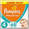 Подгузники детские Pampers Sleep&Play Maxi 4 (7-14 кг) Jumbo Pack 68 шт