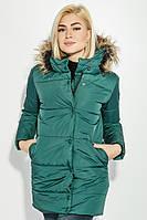 Куртка женская зимняя 71PD0007 (Темно-зеленый), фото 1