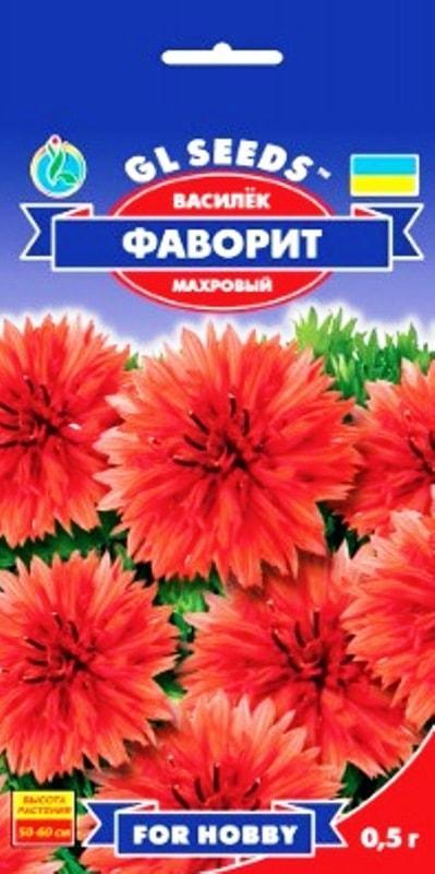 Василёк Фаворит красный - 0.5г - Семена цветов