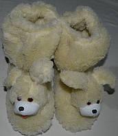 Чуні  подвійні шерстяні Собачка .