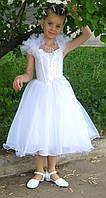 Прокат белоснежного платья со стразами для девочки на выпускной