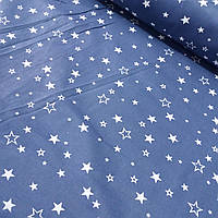 Бязь Люкс со звёздами на синем, ширина 220 см, фото 1