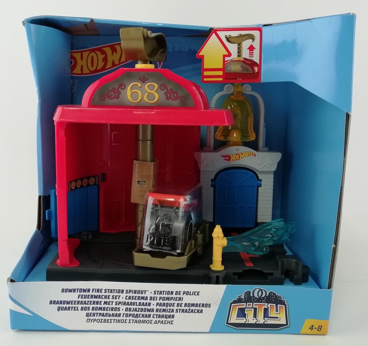 Трек Hot Wheels Центральная Городская станция FRH28+ Mattel