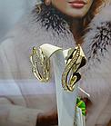 Нежные золотые серьги
