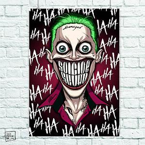 Постер Joker, Джокер. Размер 60x42см (A2). Глянцевая бумага