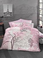 Постельное белье евро Arte Bella розовый ранфорс Luoca Patisca