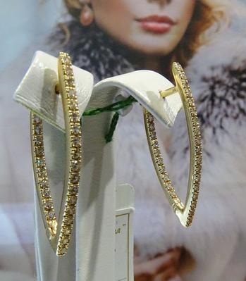 Длинные золотые серьги