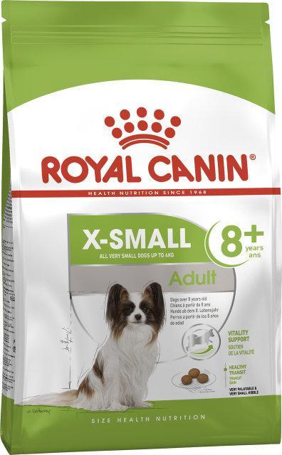 Royal Canin X-Small Adult 8+ 1,5кг-корм для собак миниатюрных размеров в возрасте старше 8 лет