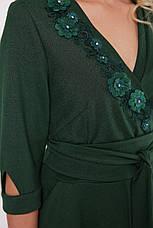 Нарядное зеленое платье больших размеров Паула, фото 3