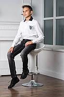 Элегантные Стильные Джинсы Для Мальчиков Подростков Серого Цвета С Модными Потертостями Aston Martin Италия.