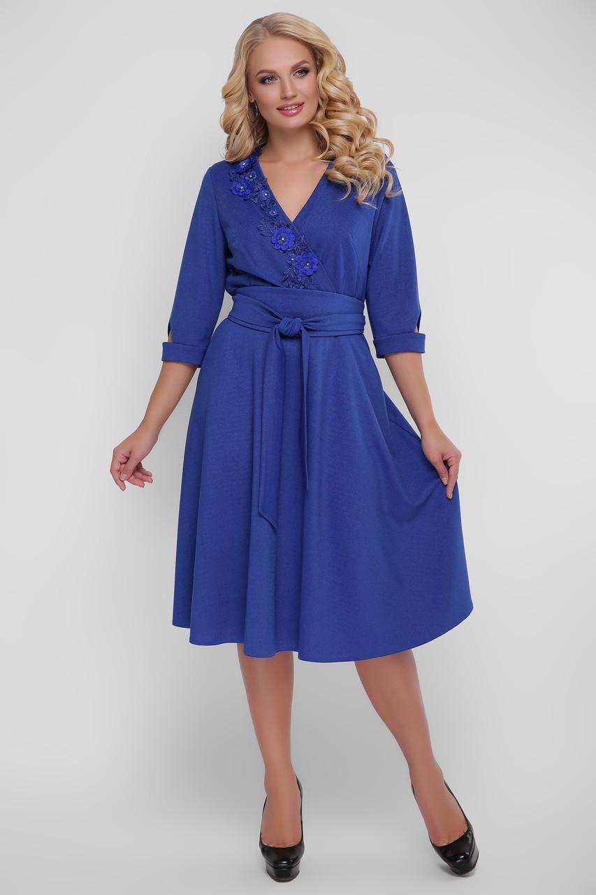 3450e208fdd Платье с широкой юбкой для полных женщин Паула электрик - V Mode