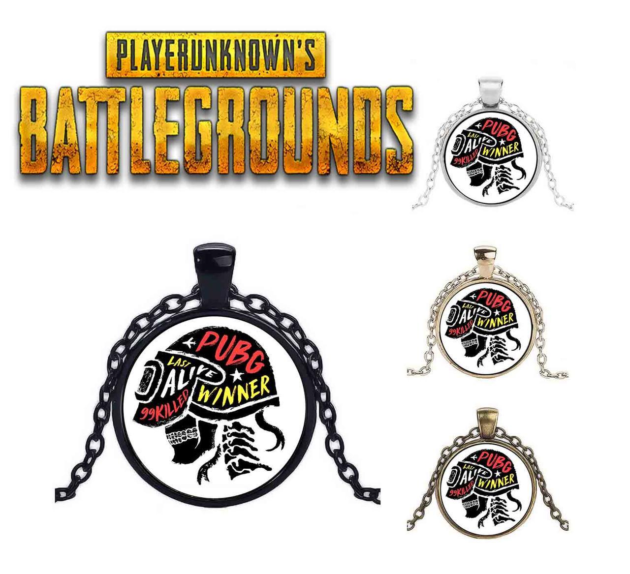 Кулон с надписями и символикой PlayerUnknown's Battlegrounds PUBG