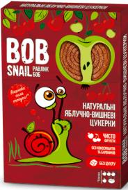 Натуральные конфеты-пастила Яблоко - Вишня  Bob Snail Равлик Боб, 120 г