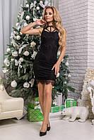 Сукня Amanda, облягаючого крою, декор мереживо, фото 1
