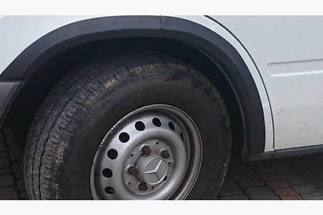 Накладки на арки (6 шт, черные) - Mercedes Sprinter 1995-2006 гг., фото 2