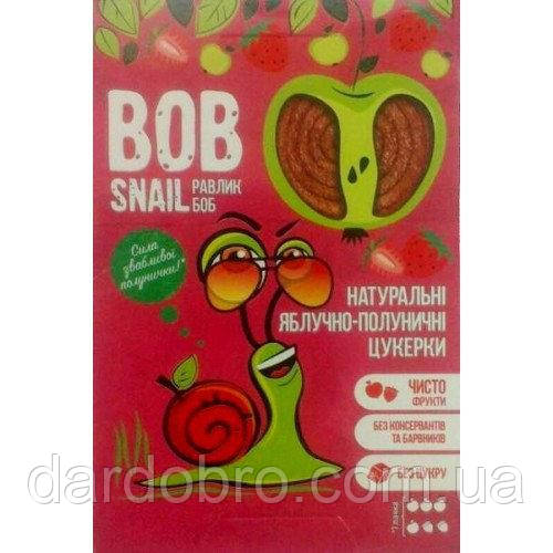 Натуральні цукерки-пастила Яблуко - Полуниця Snail Bob Равлик Боб, 60 г