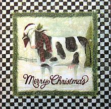 Серветка для декупажу Різдвяна корова 7884