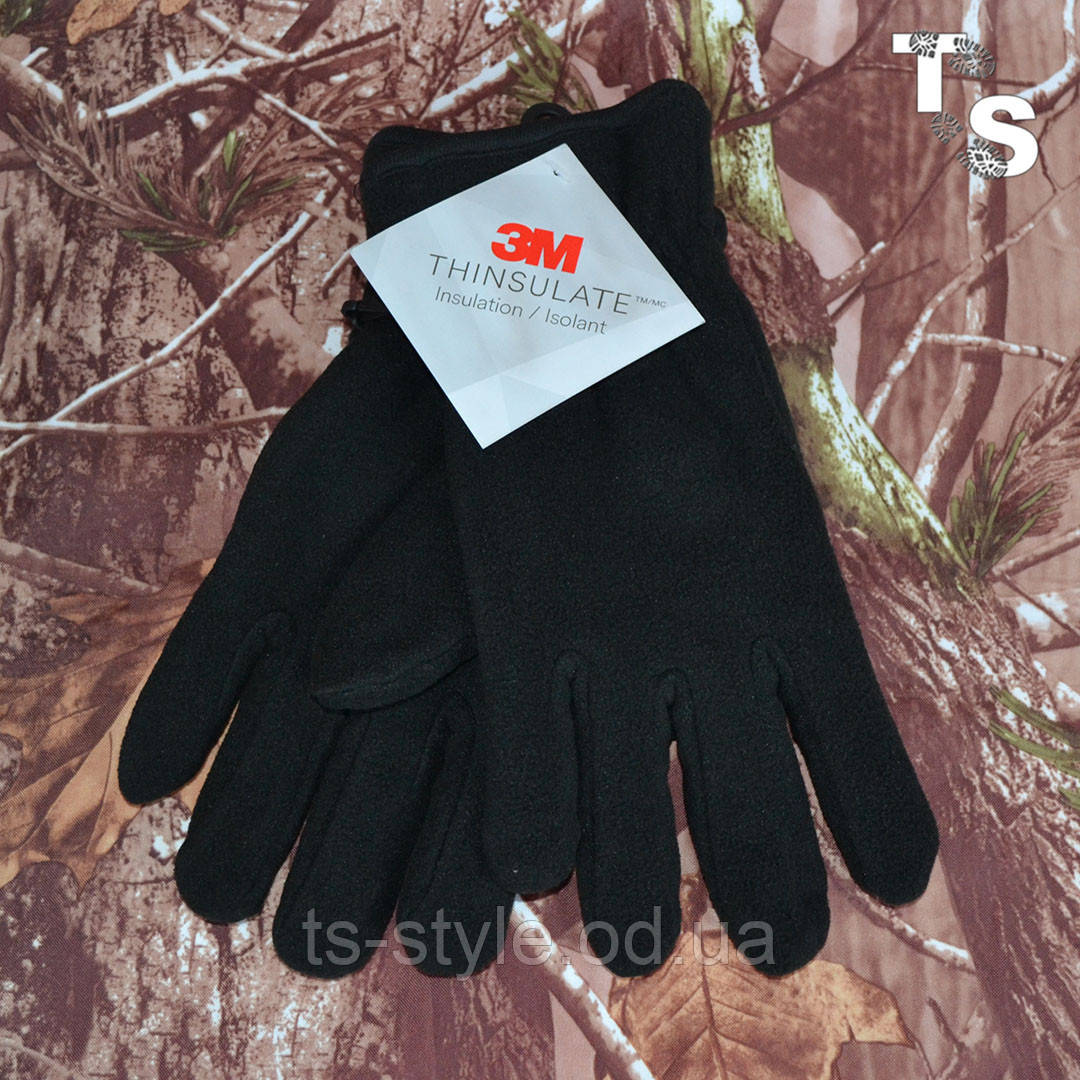 Зимние перчатки 3M флисовые Thinsulate 40 gram, Черный
