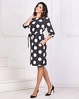 Женское платье в горох с41168 42-48