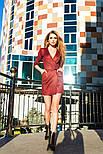 Женское платье замшевое с ремнем (3 цвета), фото 3