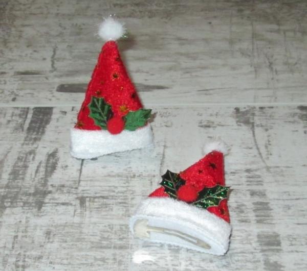 Новогоднее украшение-заколка 8 см, Колпачок