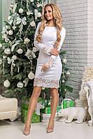 Сукня Amаlia, облягаючого крою, декор мереживо, фото 1