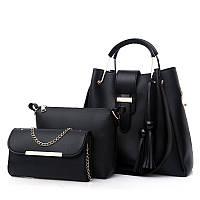 Женский набор сумок, Комплект 3в1 из эко-кожи (шоппер, косметичка и клатч), AL-3514-10