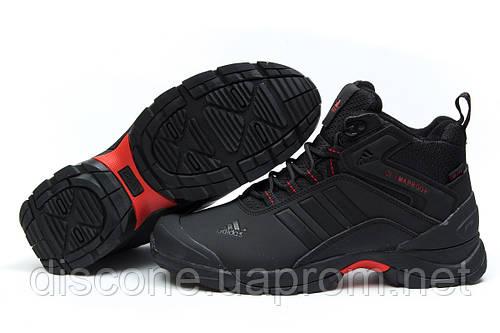 Зимние кроссовки на меху Adidas Climaproof, черные (30761), р.  [  41 44  ]