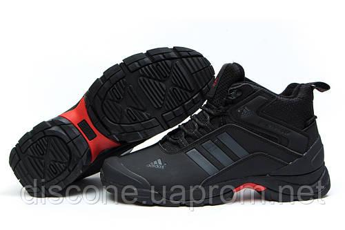Зимние кроссовки на меху Adidas Climaproof, черные (30763), р.  [  43 44  ]