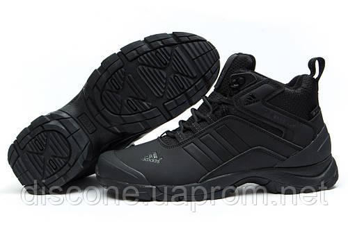 Зимние кроссовки на меху Adidas Climaproof, черные (30764), р.  [  44 (последняя пара)  ]