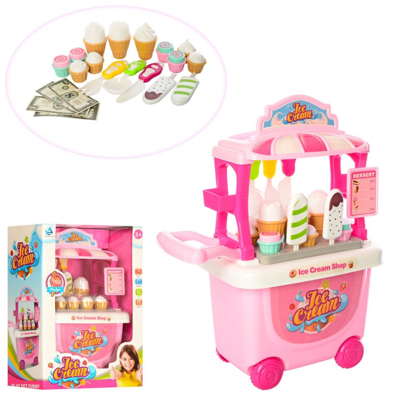 Игровой набор Мой Магазин Сладостей и Мороженого  прилавок - тележка, мороженое,CF8618