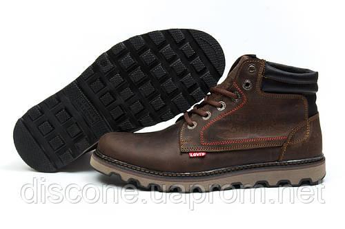 Зимние ботинки на меху Levi's Winter, коричневые (30771), р.  [  43 (последняя пара)  ]