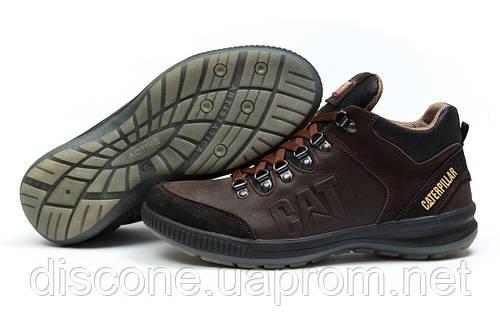 Зимние ботинки на меху CAT Caterpilar, коричневые (30801), р.  [  42 (последняя пара)  ]