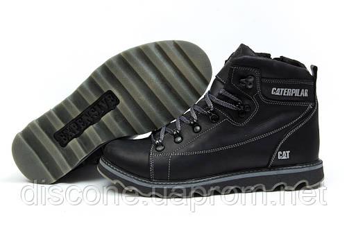 Зимние ботинки на меху CAT Caterpilar, черные (30753), р.  [  40 41 42 43 44 45  ]