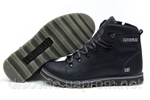 Зимние ботинки на меху CAT Caterpilar, темно-синий (30754), р.  [  41 42  ]