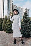 Женское вязаное платье-миди (3 цвета), фото 2