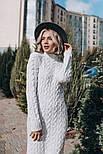 Женское вязаное платье-миди (3 цвета), фото 6