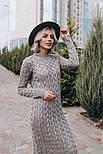 Женское вязаное платье-миди (3 цвета), фото 8