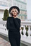 Женское вязаное платье-миди (3 цвета), фото 7