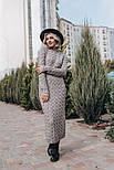 Женское вязаное платье-миди (3 цвета), фото 4