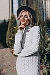 Женское вязаное платье-миди (3 цвета), фото 5