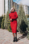 Женское вязаное платье с узором (4 цвета), фото 5