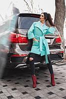 Женское кашемировое пальто с широкими рукавами, фото 1