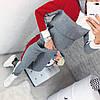 Молодежный теплый спортивный костюм с начесом женский: штаны и кофта с капюшоном и большим карманом спереди, фото 2