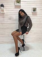 "Вязаный женский свитер ""Арчи"", капучино, фото 1"