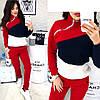 Молодежный теплый спортивный костюм с начесом женский: штаны и кофта со змейкой на вороте стойке, фото 2